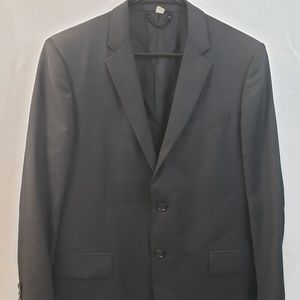 Burberry Men 52R Black Suit Jacket Blazer 2 button